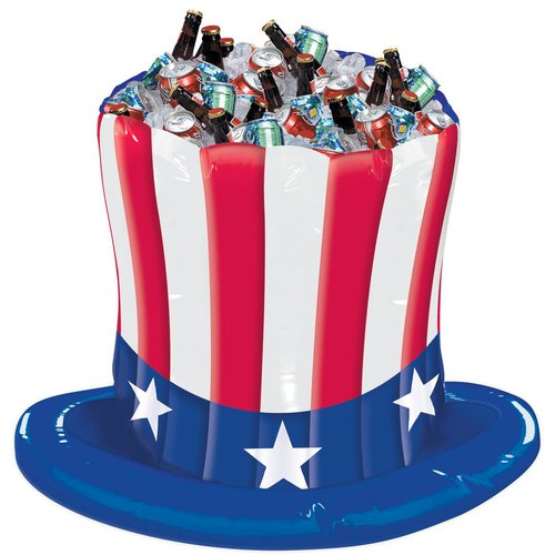 Patriotic Hat Inflatable Stand Up Cooler