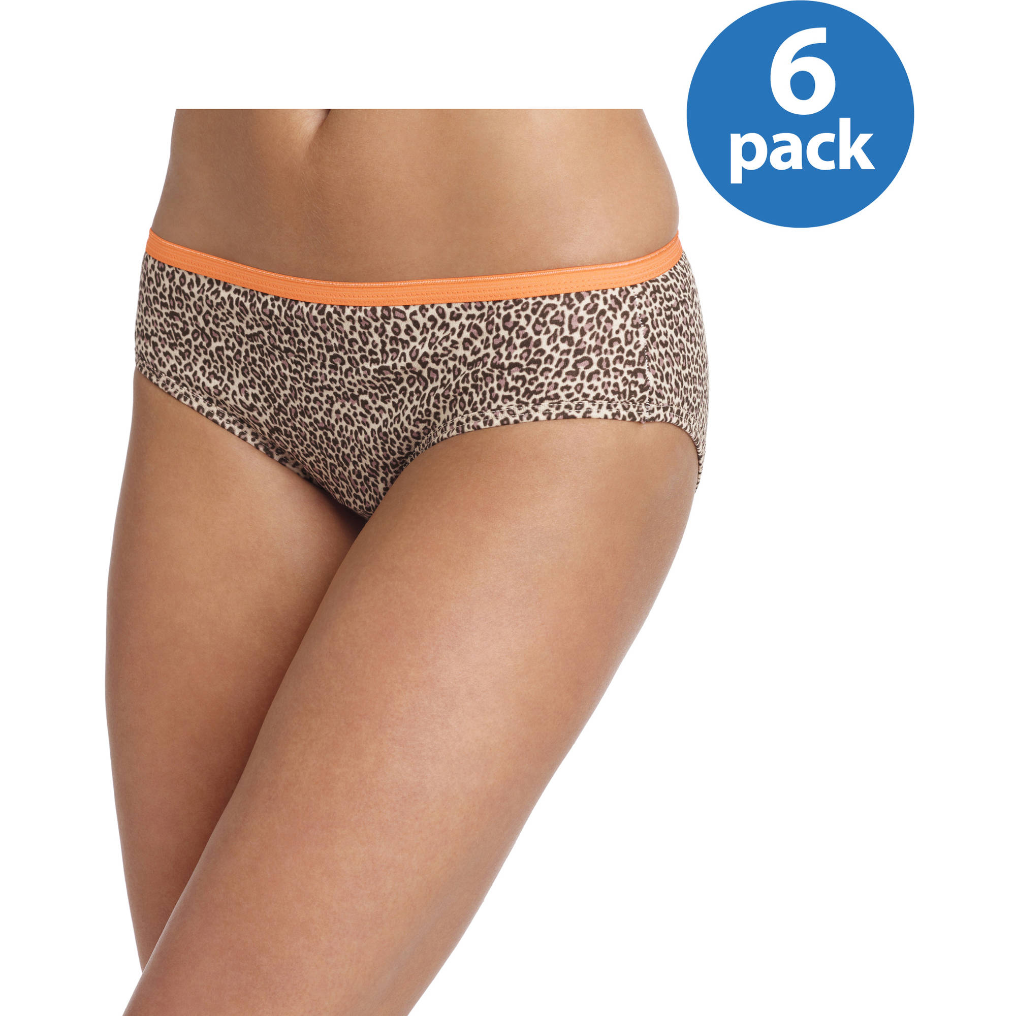 Hanes Women's Cotton Hipster Panties, 6-Pack