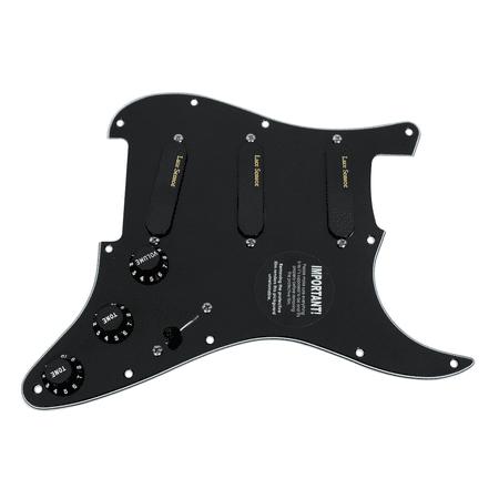 fender stratocaster strat lace sensor gold loaded pickguard bk bk. Black Bedroom Furniture Sets. Home Design Ideas