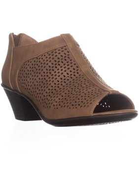 843af9c1ed76c8 Product Image Womens Easy Street Steff Perforated Peep Toe Ankle Boots