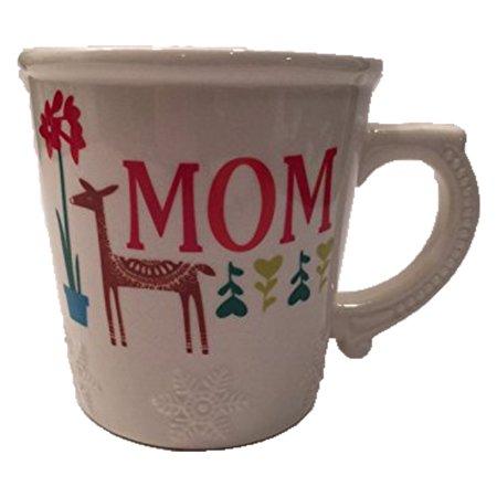 Hallmark Holiday Christmas Snowflake Mug Cup Love You Mom Deer (Hallmark Cup)