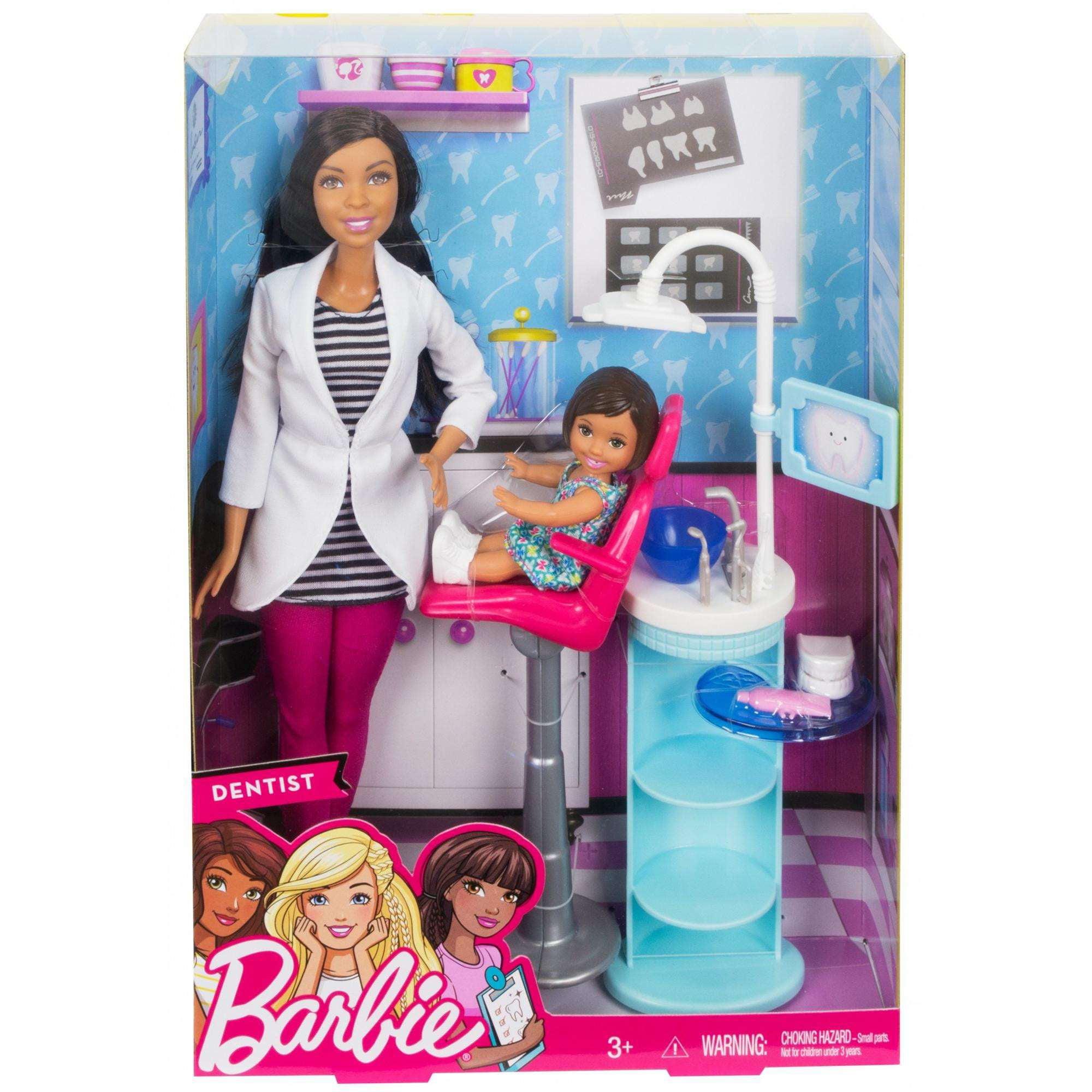 barbie dentist doll u0026 playset walmart com