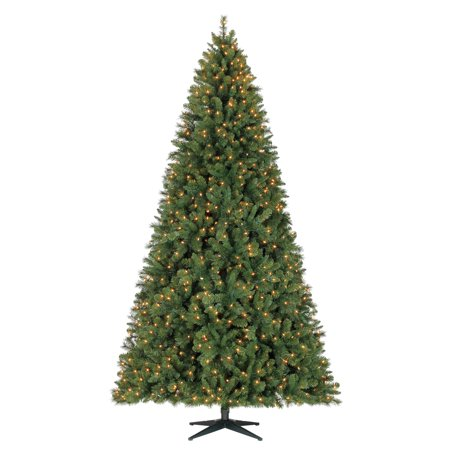 Holiday Time Pre-Lit 9' Woodlake Spruce Artificial Christmas Tree, (9 Foot Christmas Tree With Changing Lights)