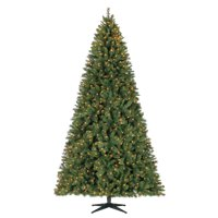 Holiday Time Pre-Lit 9' Woodlake Spruce Artificial Christmas Tree, Clear-Lights