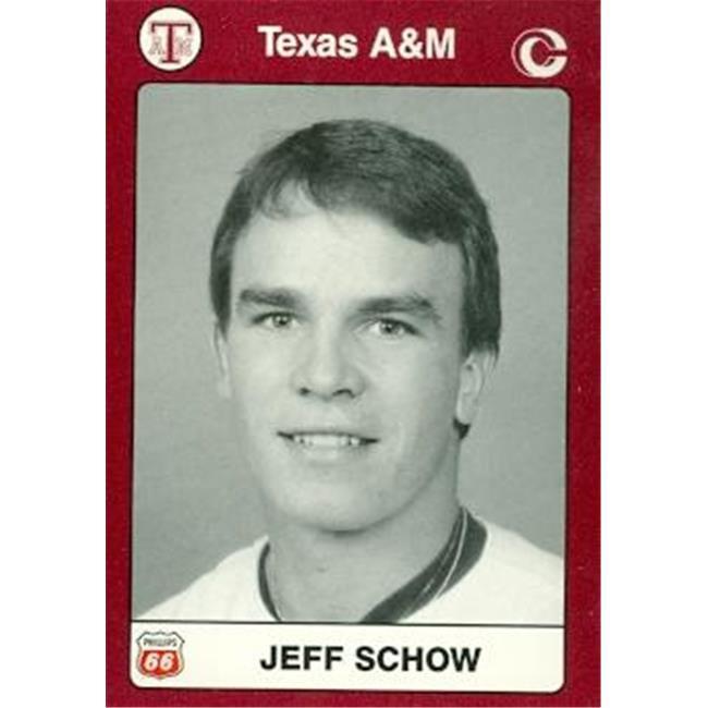 Jeff Schow Baseball Card (Texas A&M) 1991 Collegiate Collection No.84