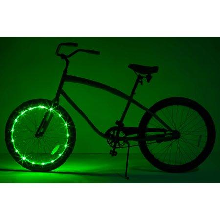 Brightz, Wheel Brightz LED Bicycle Wheel Accessory, Green, for 1 Wheel