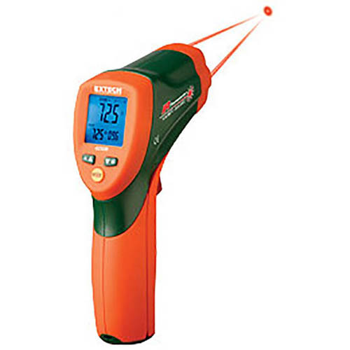 Extech 42509-NIST Dual Laser IR Thermometer with Color Alert