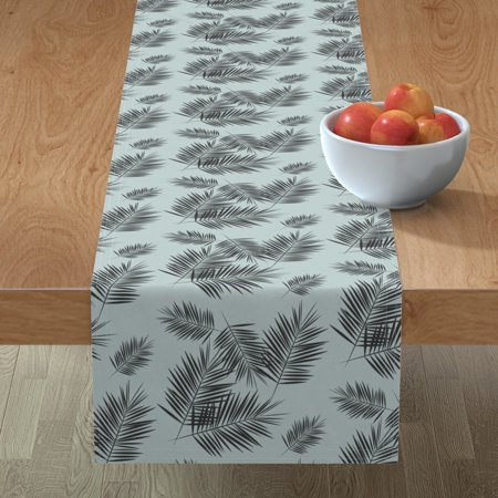 Image of Table Runner Palm Tree Palm Leaves Palm Tree Leaf Tropical Summer Cotton Sateen