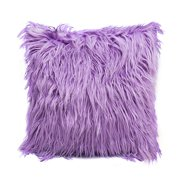 Nordic Posh Style Home Decor Super Soft Plush Mongolian Faux Fur Pillow Cover