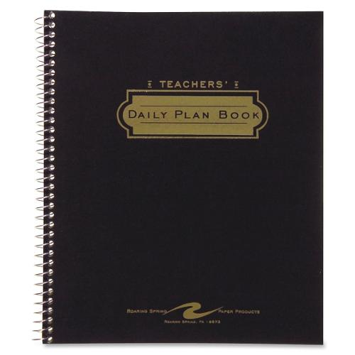 "Roaring Spring Roaring Spring Teacher's Daily Planners - Daily - 8.50"" x 11.03"" - Assorted - Pocket"