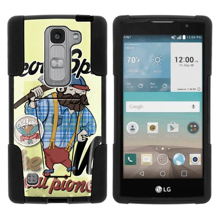 LG Escape 2 and Spirit LTE H443 STRIKE IMPACT Dual Layer Shock Absorbing Case with Built-In Kickstand - Scout Spirit Pioneer