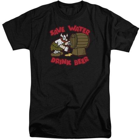 Hagar The Horrible Save Water Drink Beer Mens Big and Tall Shirt