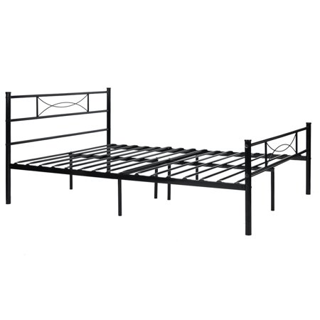 Metal Platform Bed Frame and Headboard Twin Full Size - Walmart.com
