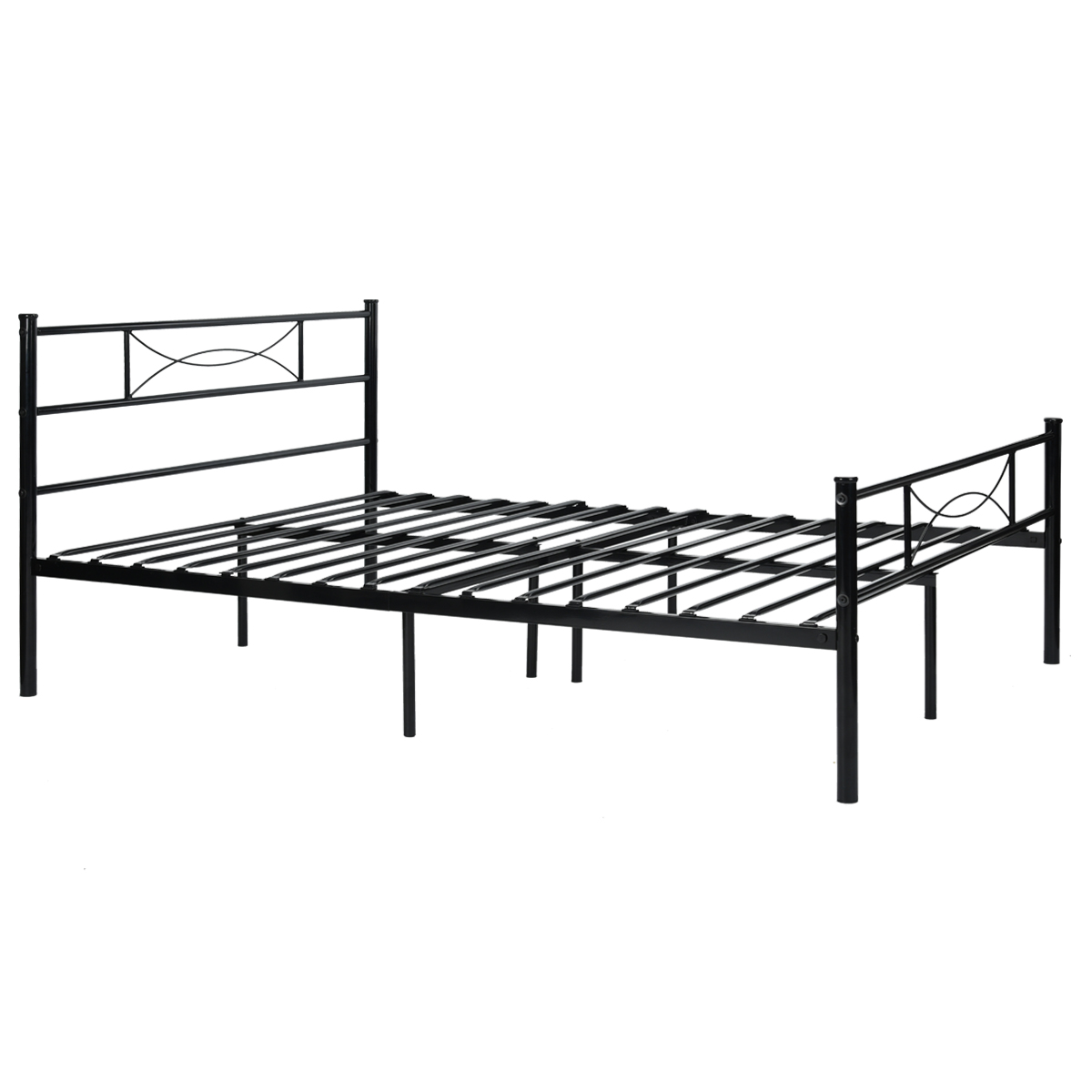 Metal Platform Bed Frame and Headboard Twin Full Size