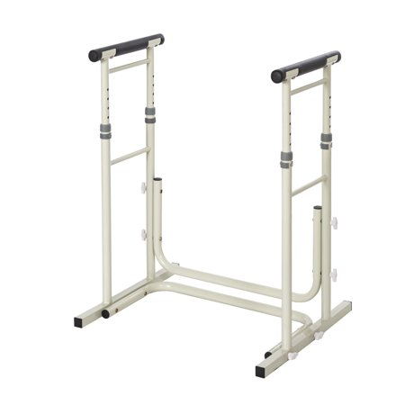 Essential Medical Supply Height Adjustable Standing Toilet Safety Rail With Foam Handles Adjustable Toilet Safety Rail
