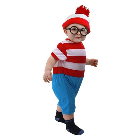 Where's Waldo Infant Costume Onesie 12-18 months