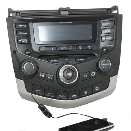 Honda Accord 2003-07 Radio AM FM 6 CD w Aux Input Temp Ctrls 39175-SDN-A110 7BY0 -