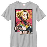 Marvel Boys' Captain Marvel Artistic Portrait T-Shirt
