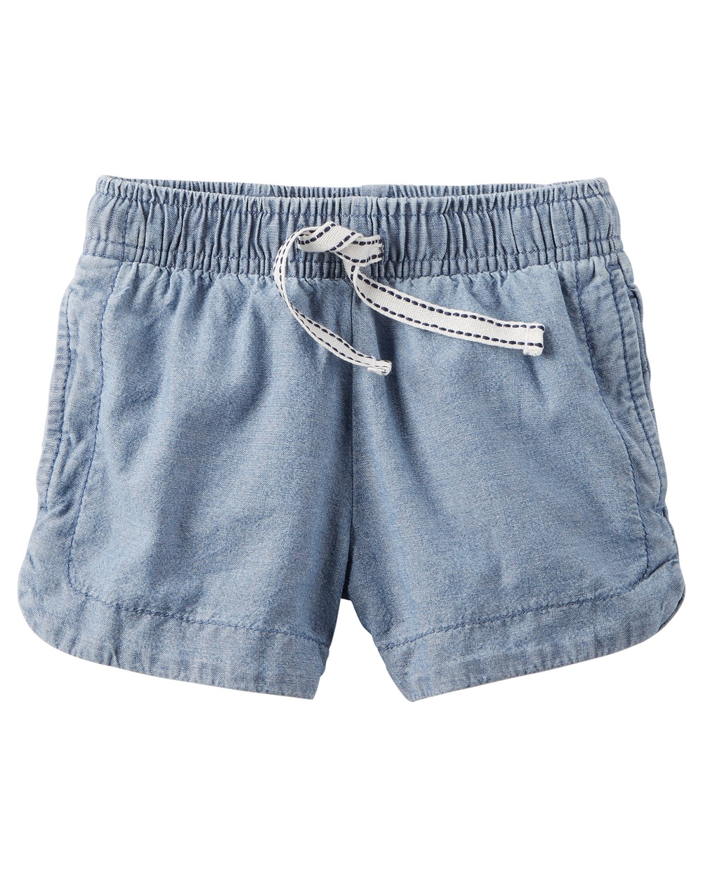 Carter's Baby Girls' Chambray Pull-On Shorts, 3 Months