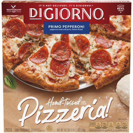 DIGIORNO PIZZERIA! Primo Pepperoni Hand-Tossed Style Crust Frozen Pizza 18.7 oz.
