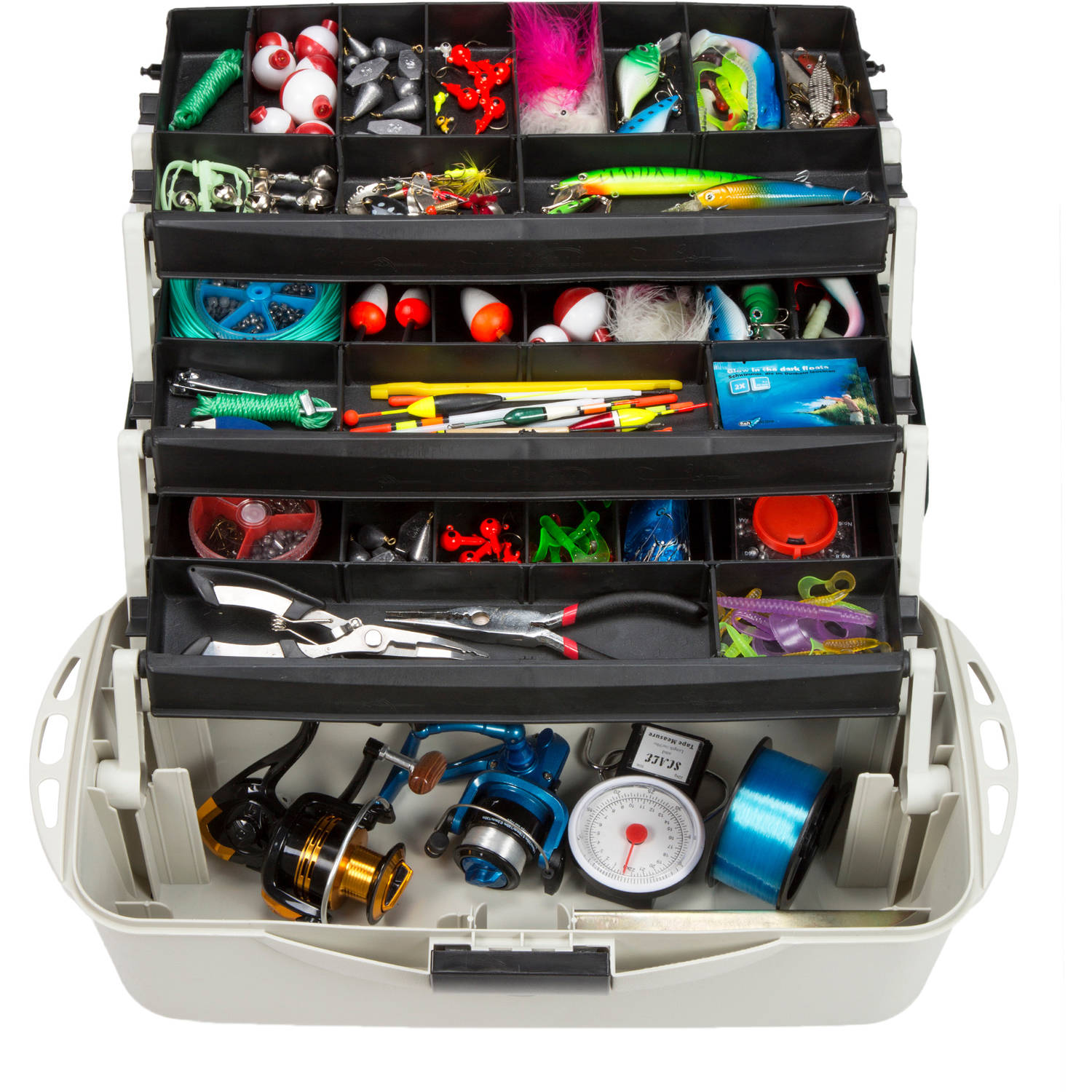 3-Tray Fishing Tackle Box Craft Tool Chest and Art Supply Organizer � 18 Inch by Wakeman Outdoors by Trademark Global LLC