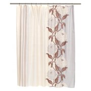 """Extra Long """"Chelsea"""" Fabric Shower Curtain in Mauve"""