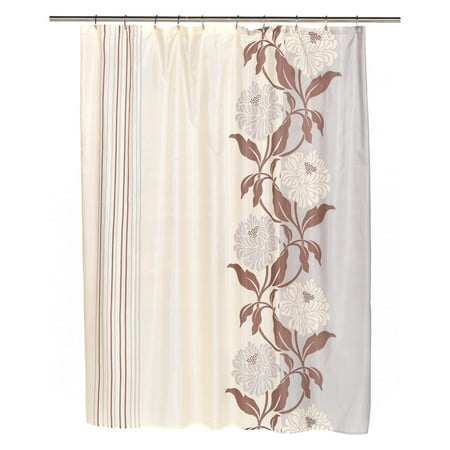 Extra Long Chelsea Fabric Shower Curtain In Mauve