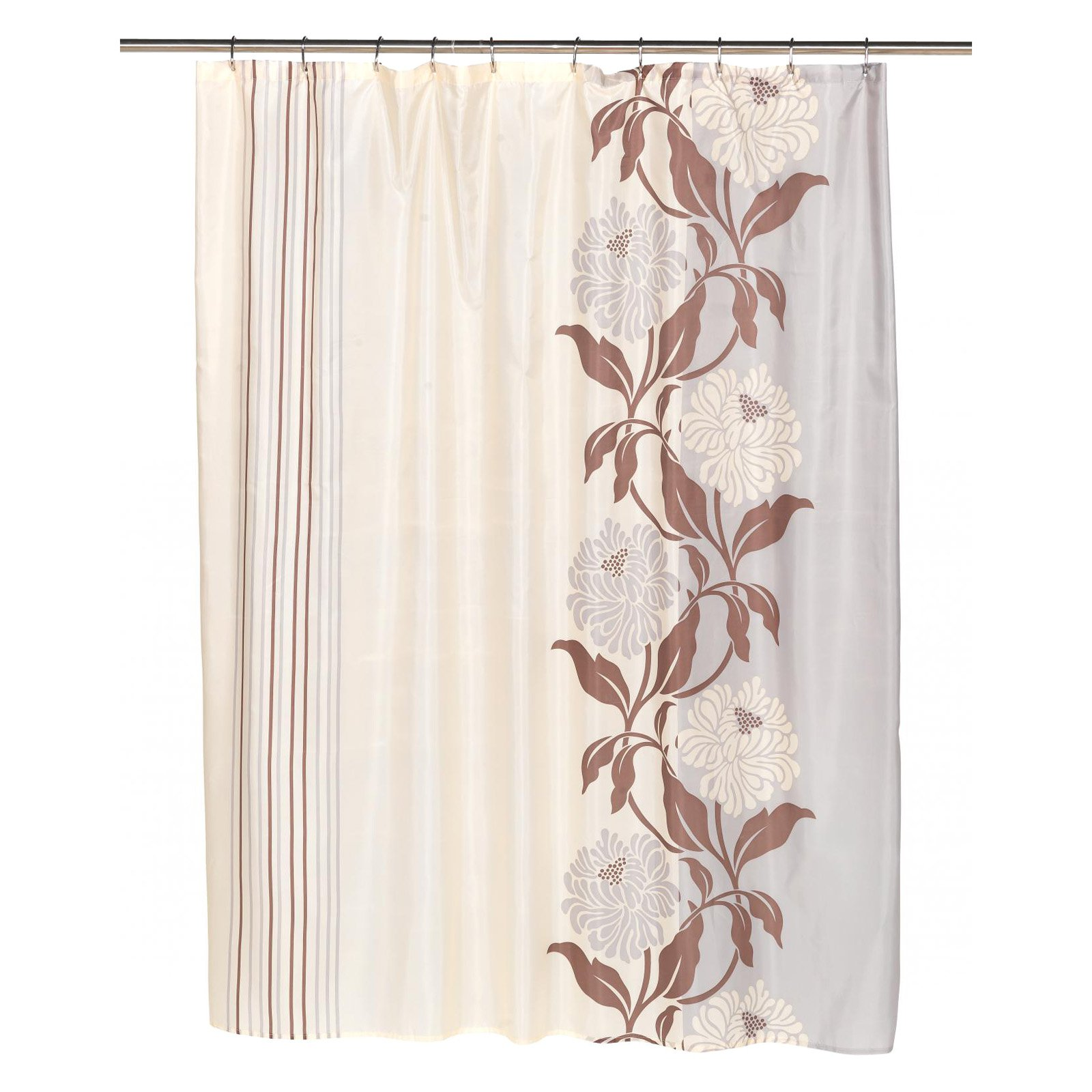 "Extra Long ""Chelsea"" Fabric Shower Curtain in Mauve"