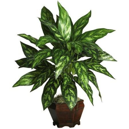 Nearly Natural 6617 Silver King avec Bois Vase soie plantes - image 1 de 1