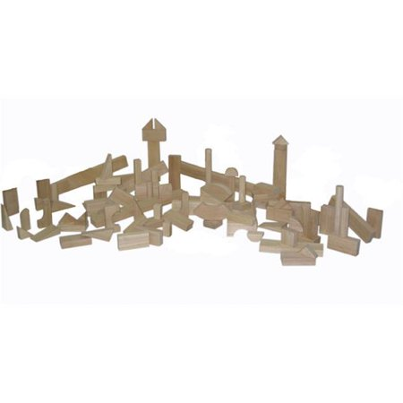 Hard Rock Maple Wood (Wood Designs 60300 - Hard Maple Blocks - Nursery Set With 17 Shapes And 93)