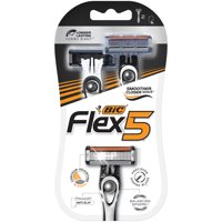 BIC Flex 5 Men's 5 Blade, Disposable Razors, 2-count