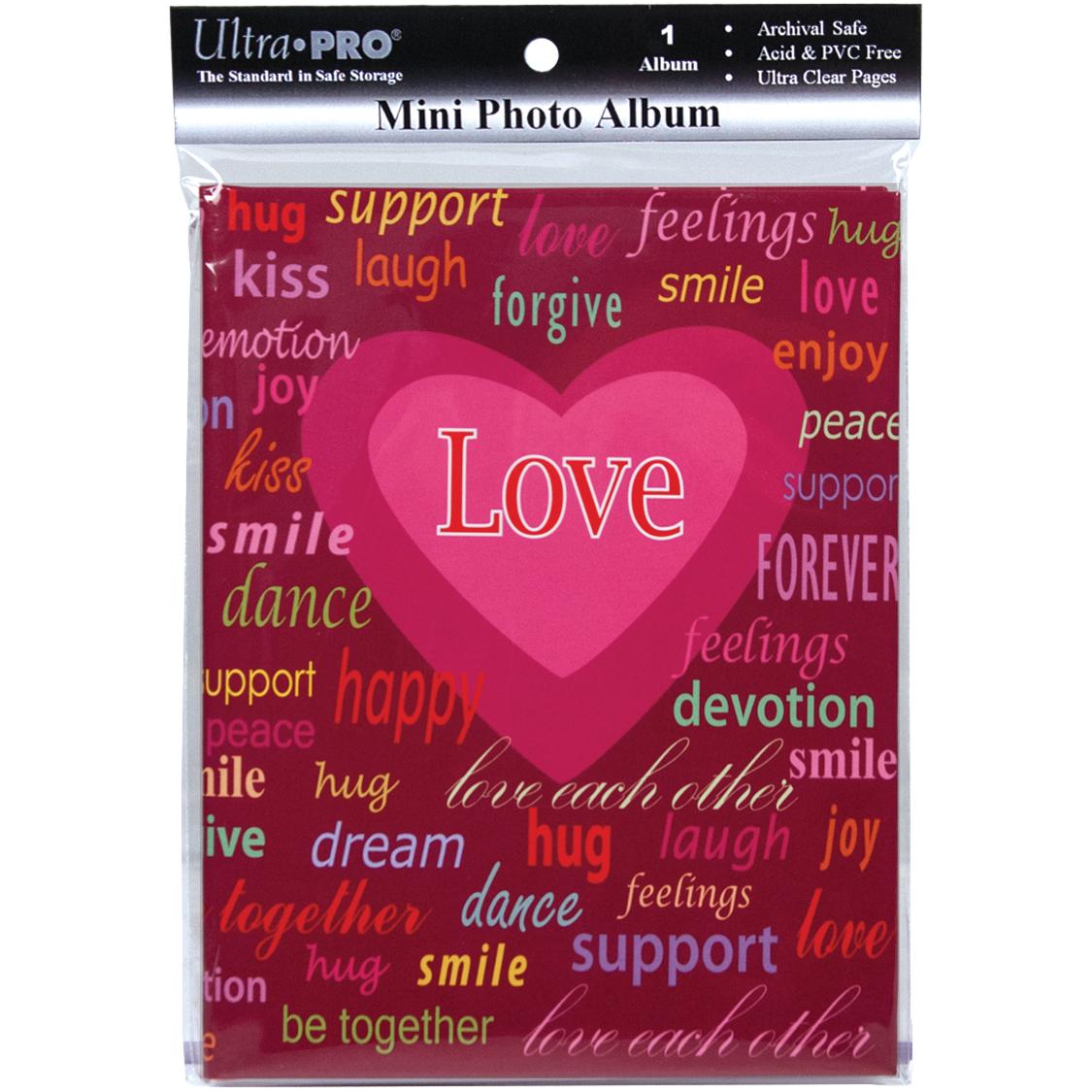 Ultra PRO 58203-R Mini Photo Album, 4 by 6-Inch, Love Multi-Colored