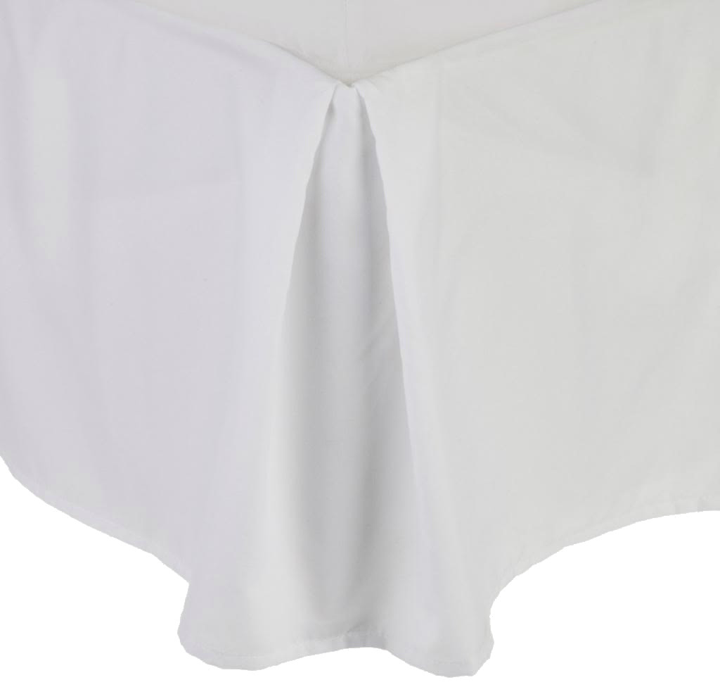 Clara Clark Solid Bedskirt Dust Ruffle King Size, White by Clara Clark