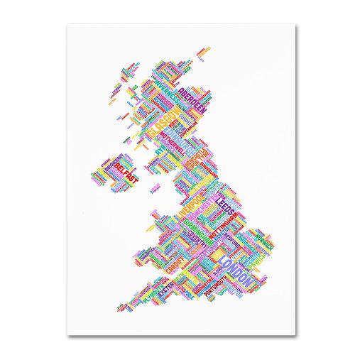 "Trademark Fine Art ""United Kingdom IV"" Canvas Wall Art by Michael Tompsett"