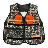 matoen Children Tactical Vest Kids Jacket Tactical Vest For Nerf N-Strike Elite Series