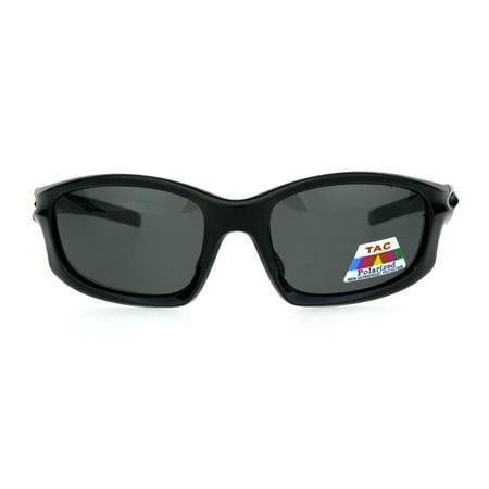 Mens TAC Polarized Lens Aerodynamic Warp Sport Performance Plastic Sunglasses Shiny (Performance Sunglasses)