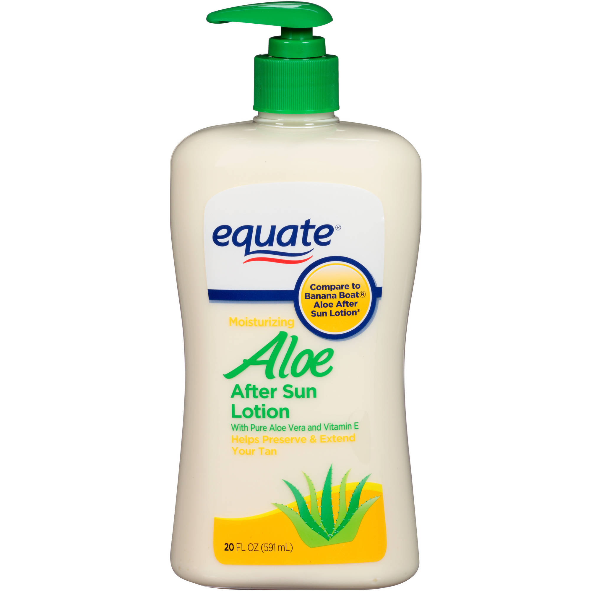 Equate Aloe Vera After Sun Lotion, 20 Oz
