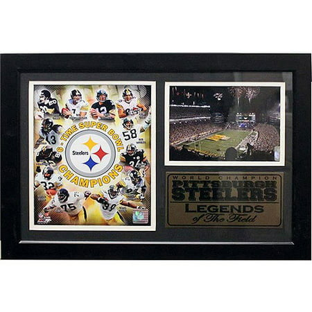 NFL Pittsburgh Steelers Greats Photo Stat Frame, 12x18