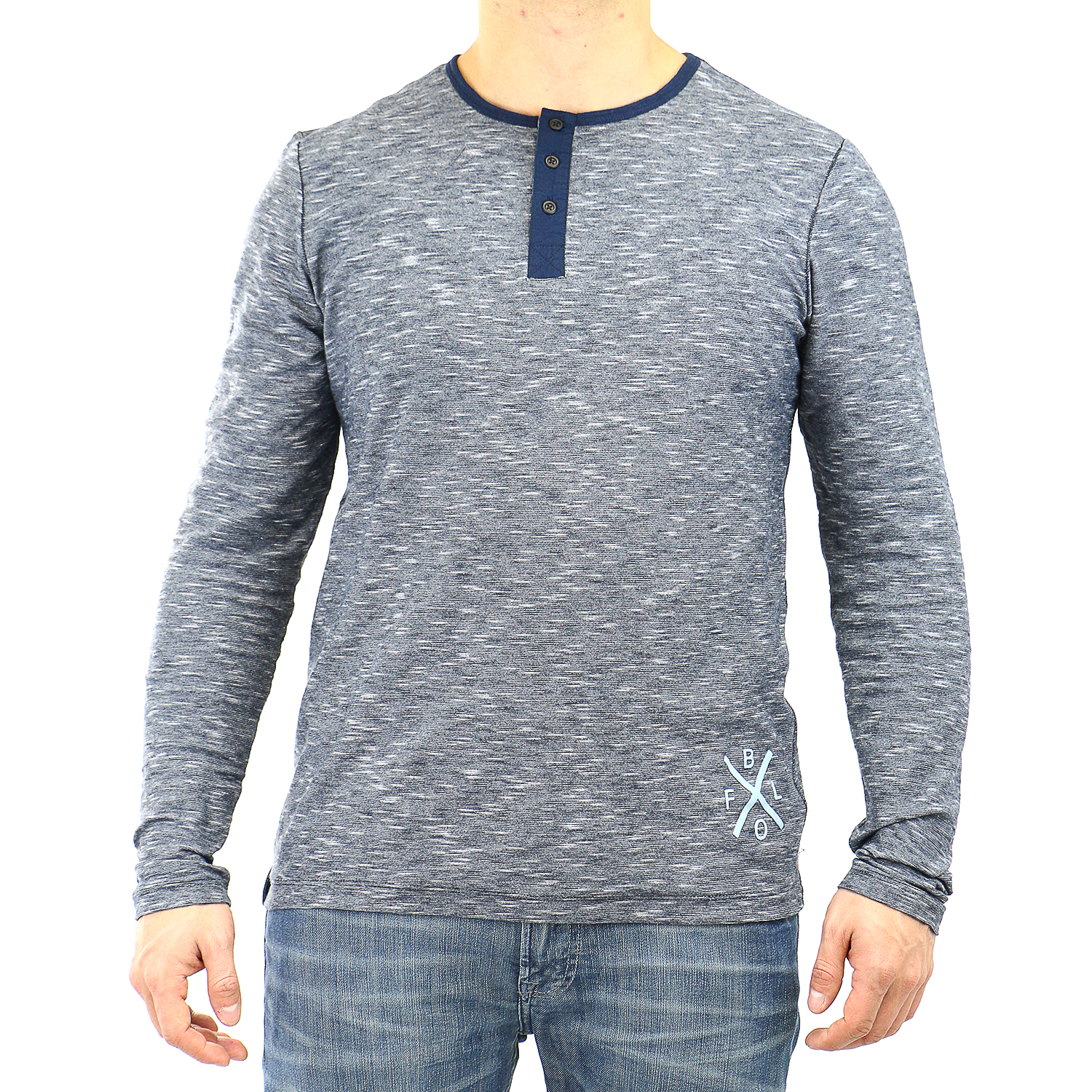 Buffalo Nipsy L/S Henly Knits Tee - Mens