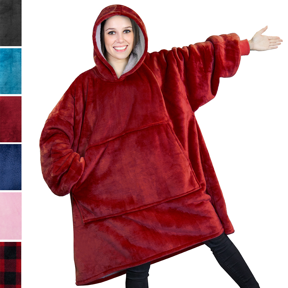 Beautiful Giant Boy/'s Kids Casual Hooded Front Pocket Hoodie T-shirt Red