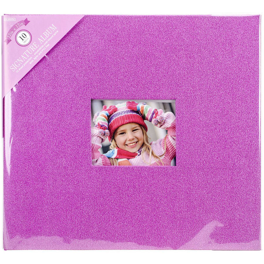 "Colorbok 12"" Album, Solid Glitter Pink"