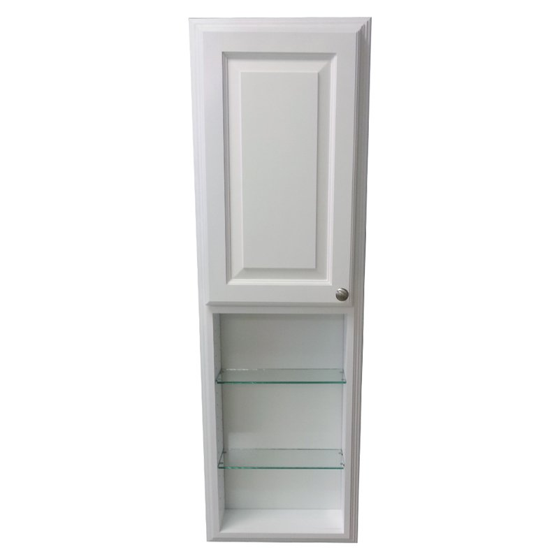 WG Wood Cameron 15.5W x 49.5H in. Recessed Medicine Cabinet with 24 in. Open Shelf by