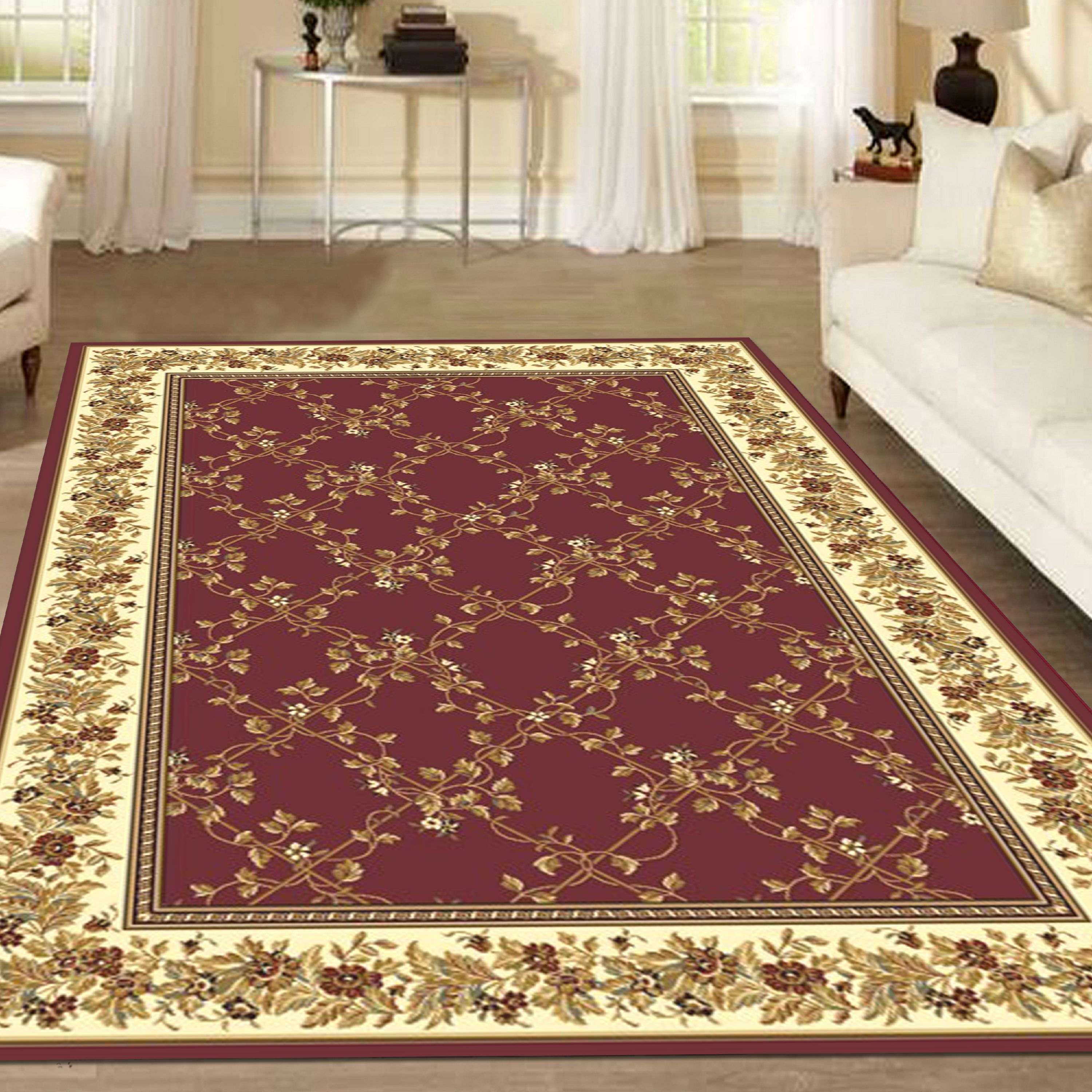 Radici USA Noble 1427 Area Rug - Burgundy