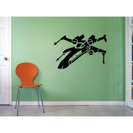 - Star Wars Airplane Mural Movie Series Characters Robot Design Art Decor Silhouette Custom Wall Decal Vinyl Peel & Stick Sticker 12 Inches X 12 Inches