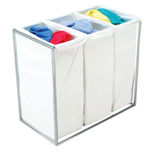 The Bag Stand Co Triple Hamper with Bag