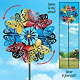 Colorful Butterfly Double Wind Spinner by