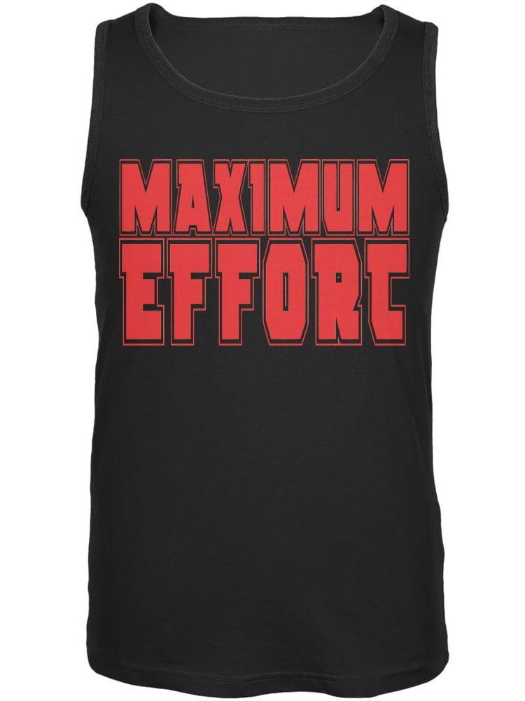 Maximum Effort Black Adult Tank Top