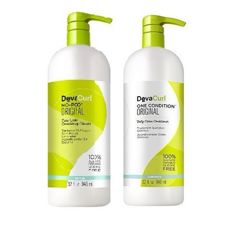 Cleanser & Conditioner Set Best for Frizzy & Curly Hair Creamy Formula 32