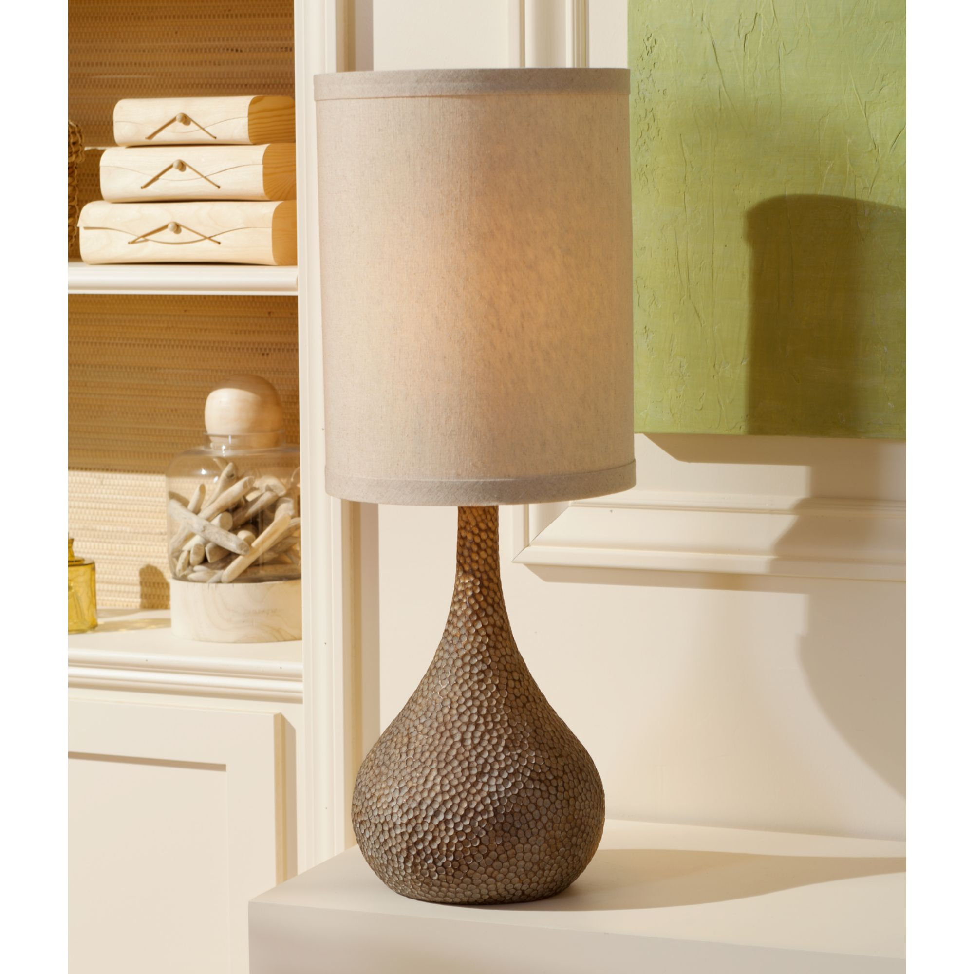 360 Lighting Chalane Hammered Gourd Bronze Table Lamp