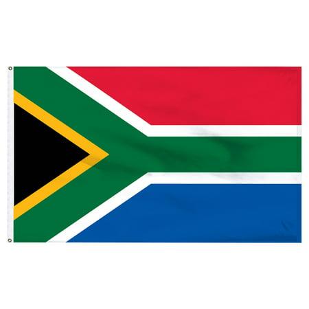 South Africa flag 3ft x 5ft Nylon ()